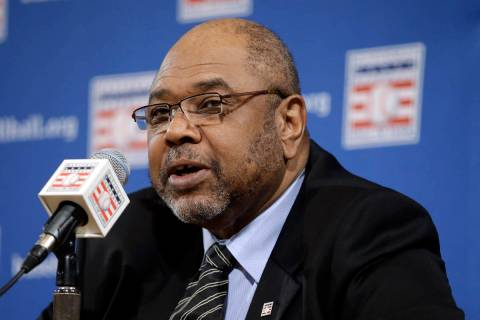 FILE - In this Dec. 3, 2012, file photo, Bob Watson talks about the selections made to the Base ...