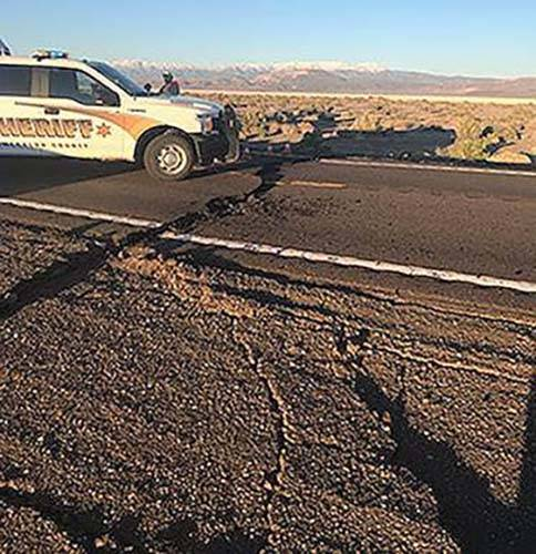 The Nevada Department of Transportation has closed a half-mile section of U.S. Highway 95 west ...