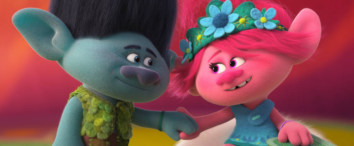 """(from left) Branch (Justin Timberlake) and Poppy (Anna Kendrick) in """"Trolls World Tour."""" (Dream ..."""