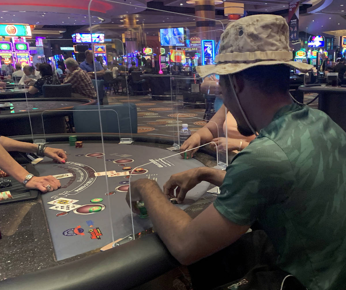 Individuals play table games at Gila River Casino at the Wild Horse Pass  location on the packed … | Las Vegas Review-Journal