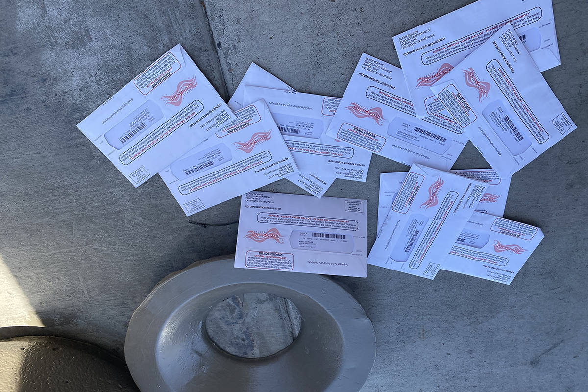 A photo of discarded ballots taken the weekend of May 9 by Allanza at the Lakes resident James ...