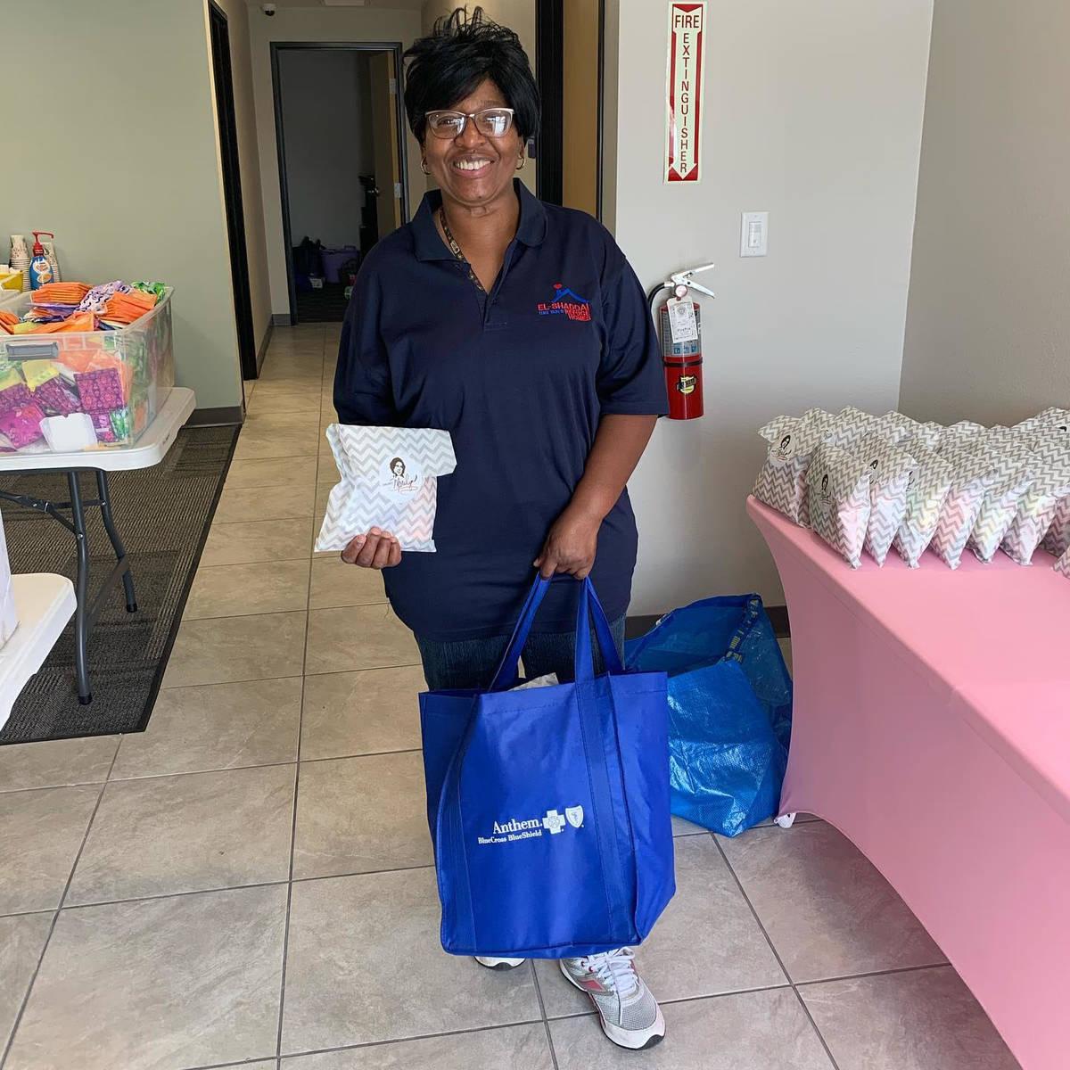 Project Marilyn, donated 50 feminine hygiene kits to Leaders in Training, Nevada Behavioral Hea ...