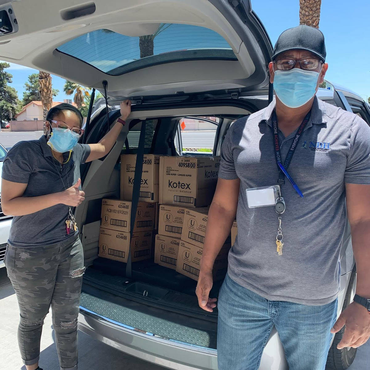 Project Marilyn, donated 50 feminine hygiene kits to Leaders in Training, Nevada Behavioral Hea ...