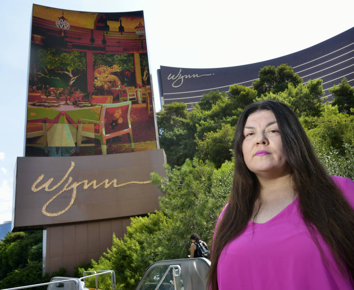 Table games dealer Kanie Kastroll is shown outside of the Wynn Las Vegas hotel-casino at 3131 S ...