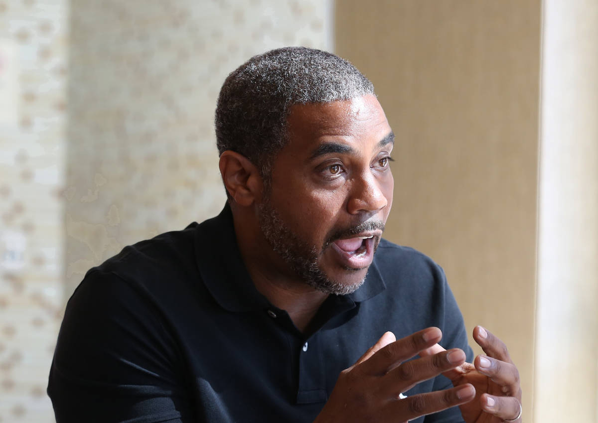 Democrat Steven Horsford, who is running for Nevada's 4th Congressional District, speaks during ...