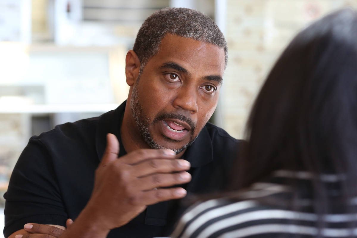 In this Oct. 11, 2018, file photo, Democrat Steven Horsford, who is running for Nevada's 4th Co ...