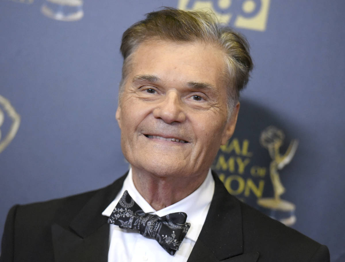 FILE - In this April 26, 2015, file photo, Fred Willard poses in the pressroom at the 42nd annu ...