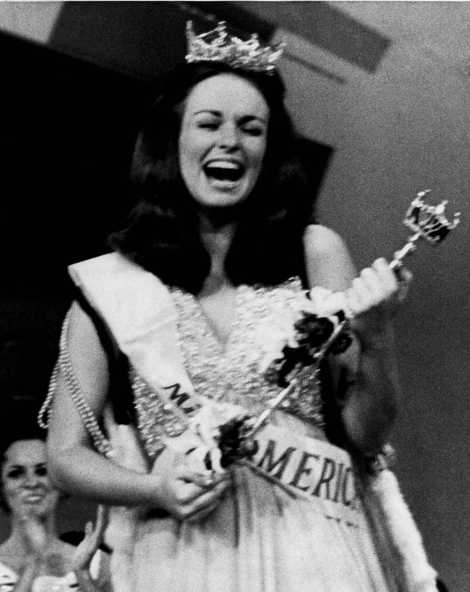 The new Miss America of 1971, Phyllis George of Denton, Texas is shown after she was crowned in ...