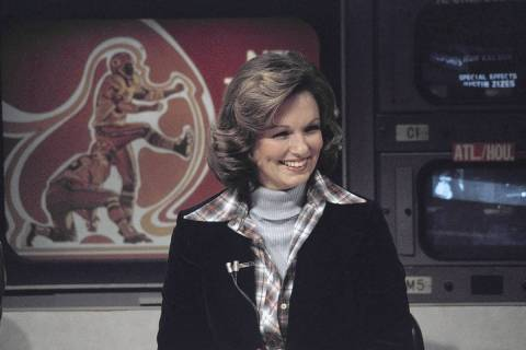 Phyllis George (CBS sportscaster) on Nov. 28, 1976. (AP Photo/Suzanne Vlamis)