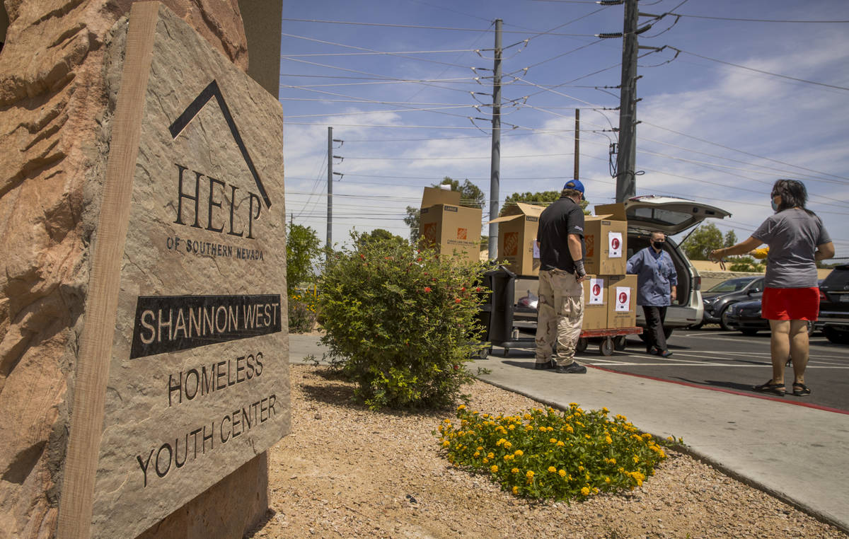 The Shannon West Homeless Youth Center receives freshly prepared donated meals for residents fr ...