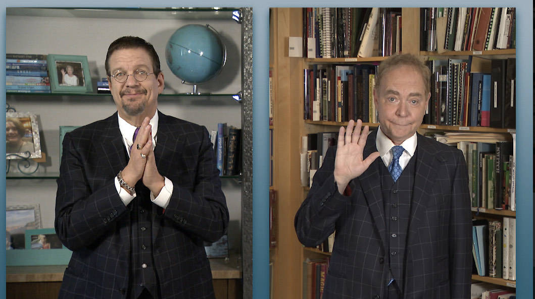 """Penn & Teller are shown during Penn & Teller's CW special """"Try This At Home."""" (The CW)"""