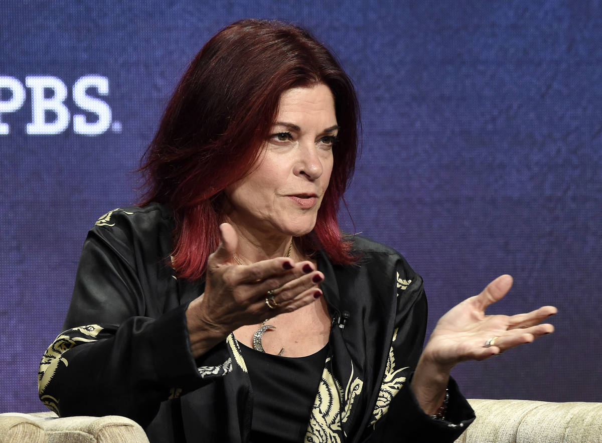 FILE - In this July 29, 2019, file photo, Rosanne Cash, a participant in the upcoming PBS docum ...