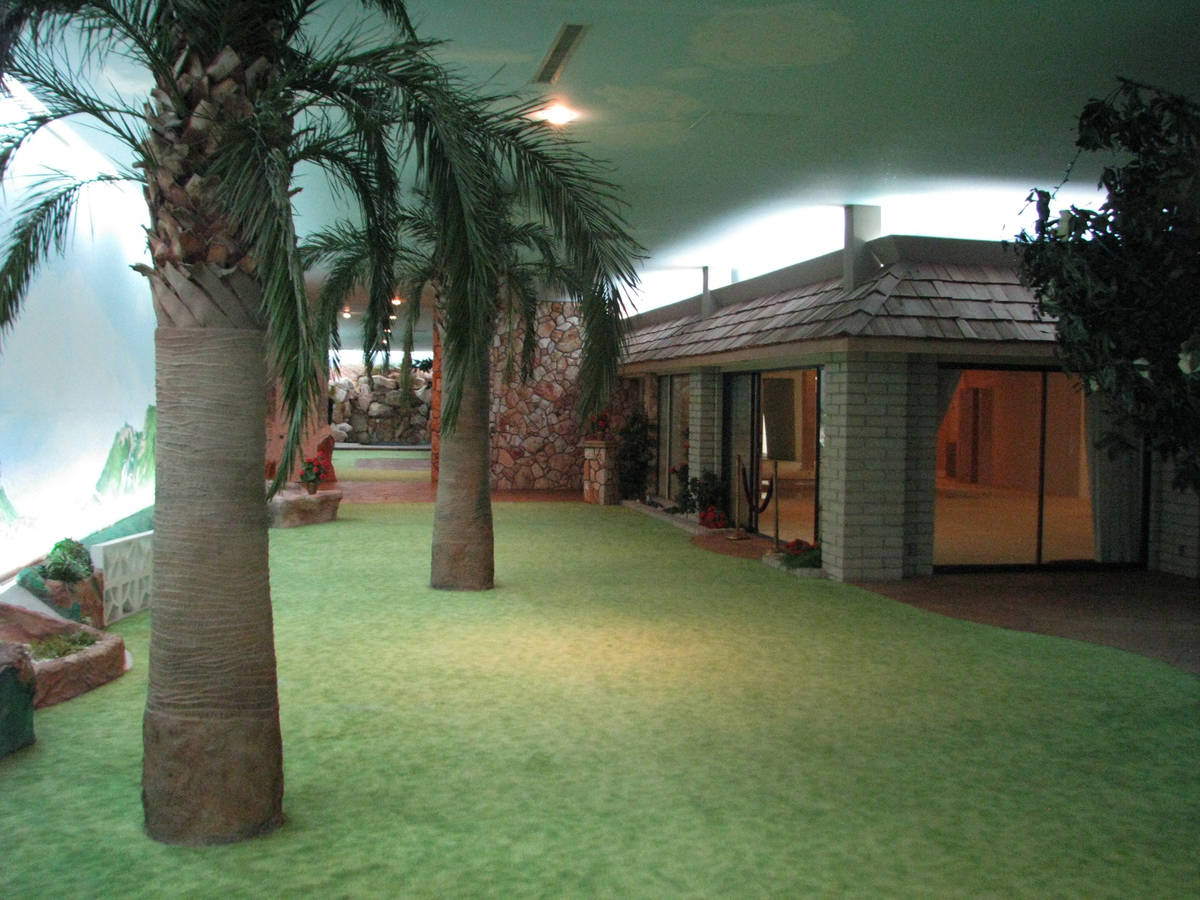 The underground house in Las Vegas was build for safety and comfort. (F. Andrew Taylor/Review-J ...