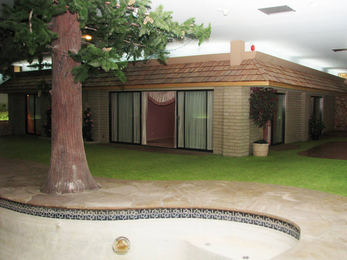 The underground house in Las Vegas includes a yard and an in-ground pool. (F. Andrew Taylor/Re ...