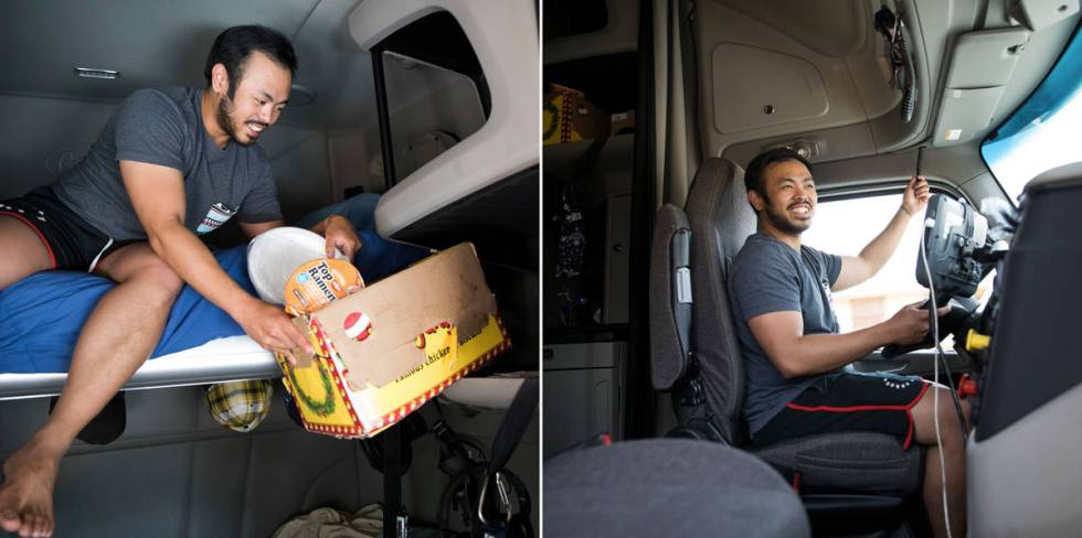 A long-haul truck driver, Kim Santiago spent three months, during the height of the country's c ...