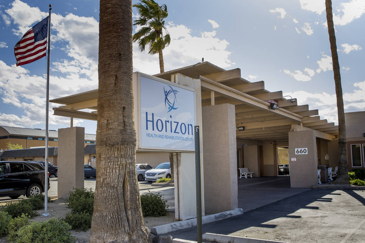 Exterior of the Horizon Health and Rehab on Monday, April 13, 2020 in Las Vegas. (L.E. Baskow/L ...