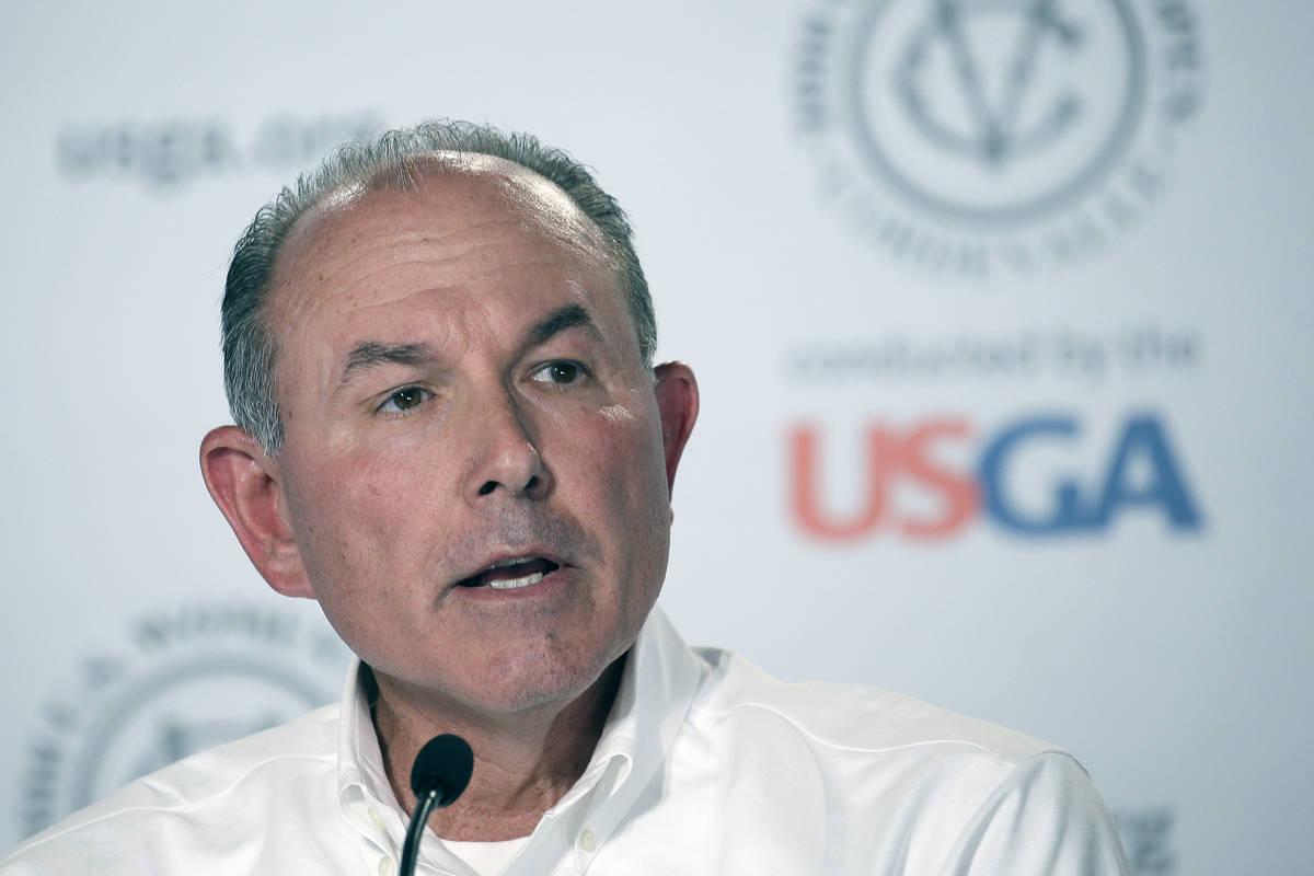 In this July 10, 2016, file photo, John Bodenhamer, the USGA senior managing director of champi ...