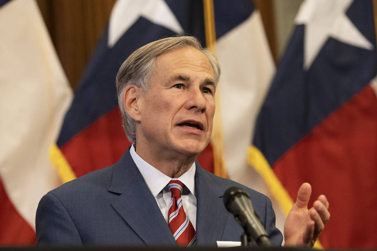 Texas Governor Greg Abbott announces the reopening of more Texas businesses during the COVID-19 ...