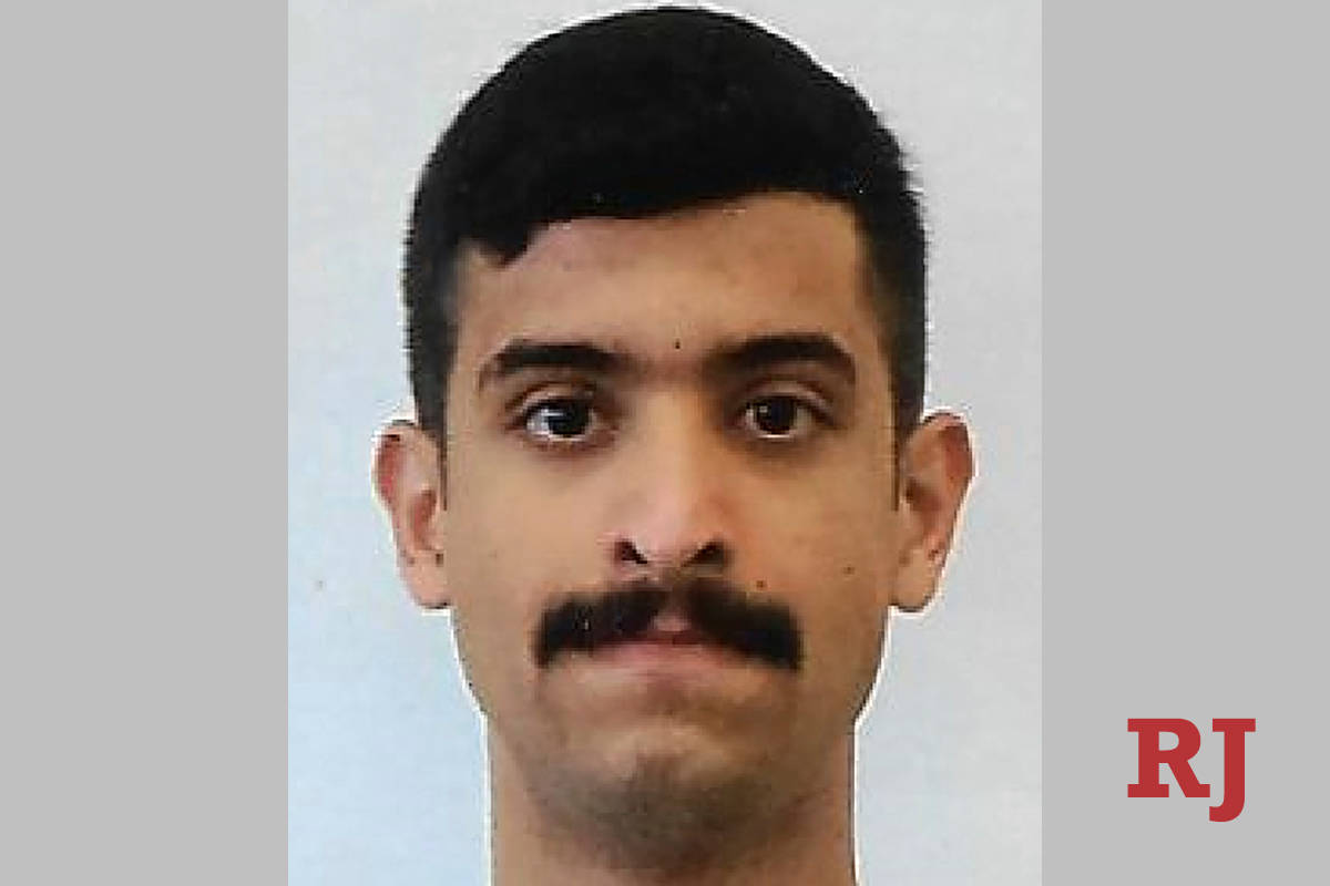 This undated photo provided by the FBI shows Mohammed Alshamrani. The Saudi student opened fire ...