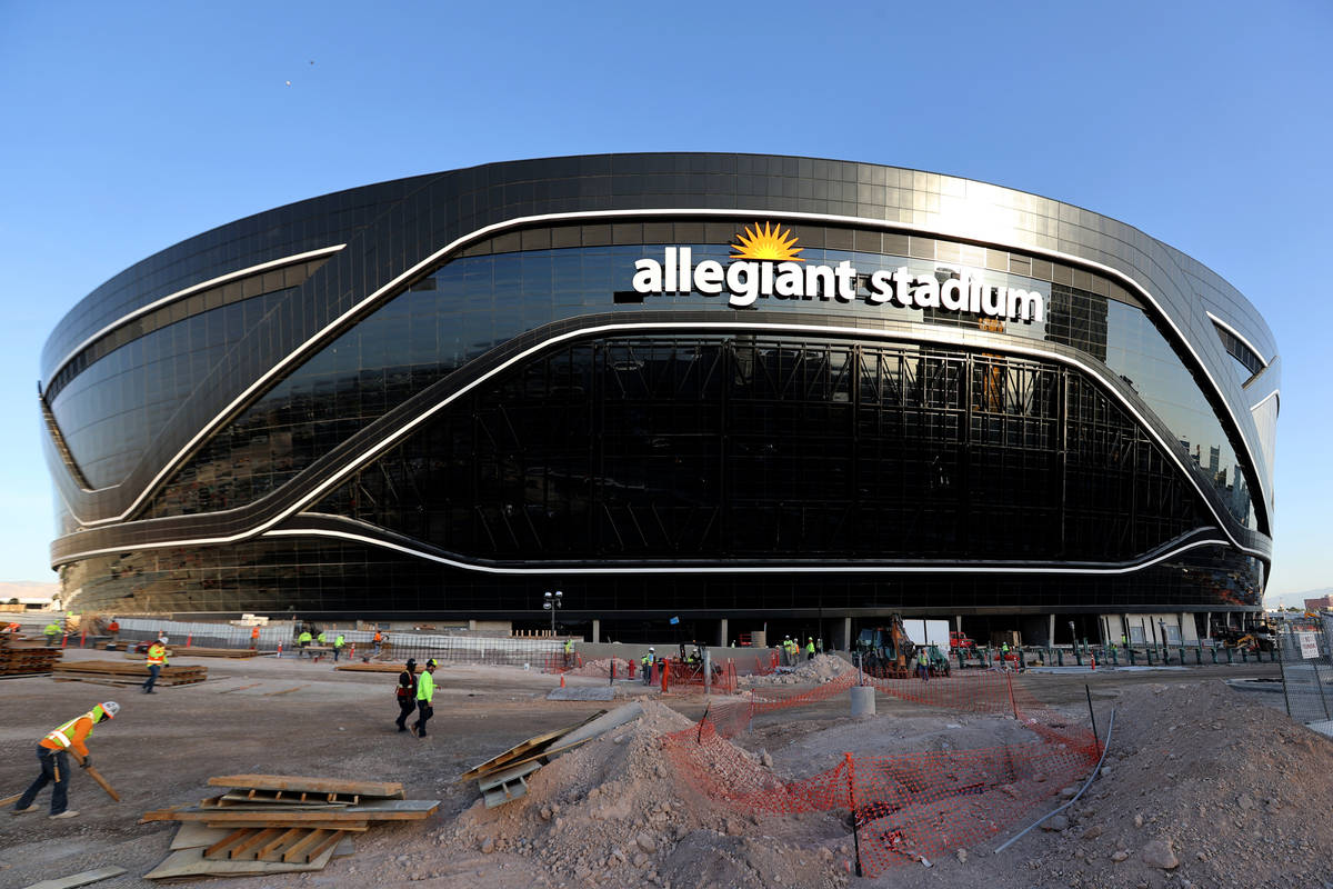 Allegiant Stadium, home of the Las Vegas Raiders, just off the Strip Thursday, May 7, 2020. (K. ...