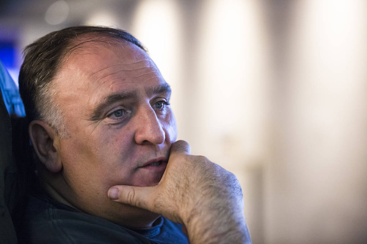 Chef Jose Andres will take part in Ming Tsai's Cooking Live fundraiser. (Chase Stevens/Las Vega ...