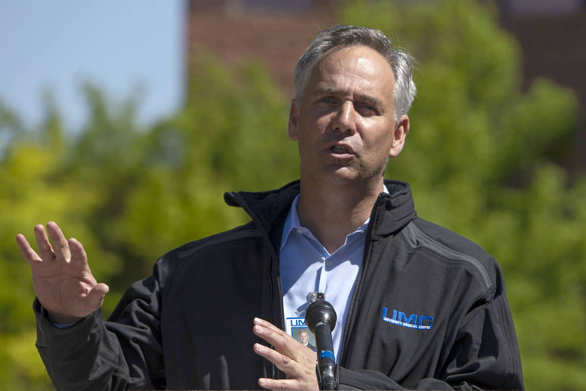 University Medical Center CEO Mason VanHouweling is among the Clark County officials that give ...
