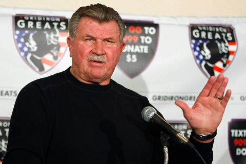 FILE - In this Oct. 27, 2009 file photo, former Chicago Bears coach Mike Ditka speaks at a news ...
