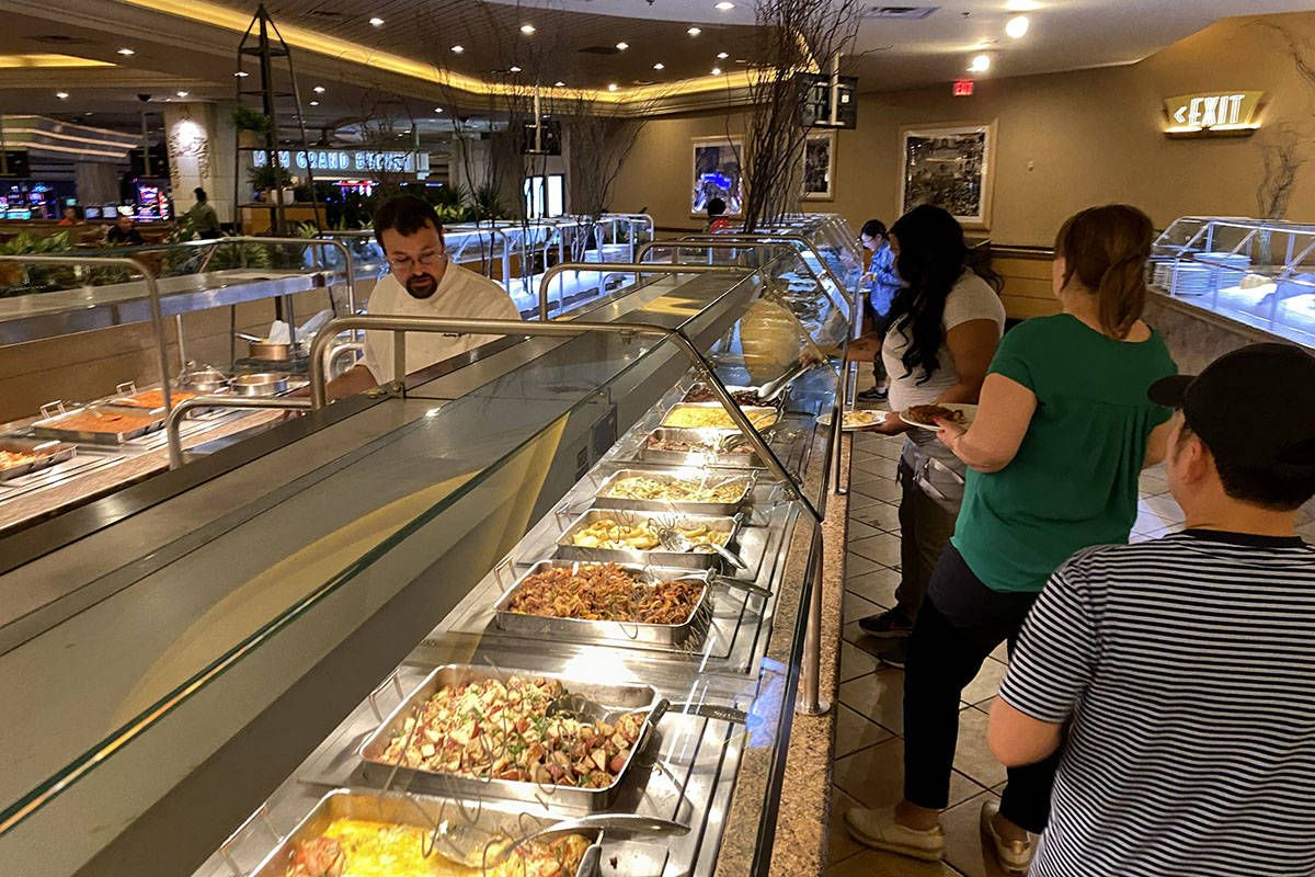 The MGM Grand Buffet Tuesday, March 10, 2020. (Las Vegas Review-Journal)