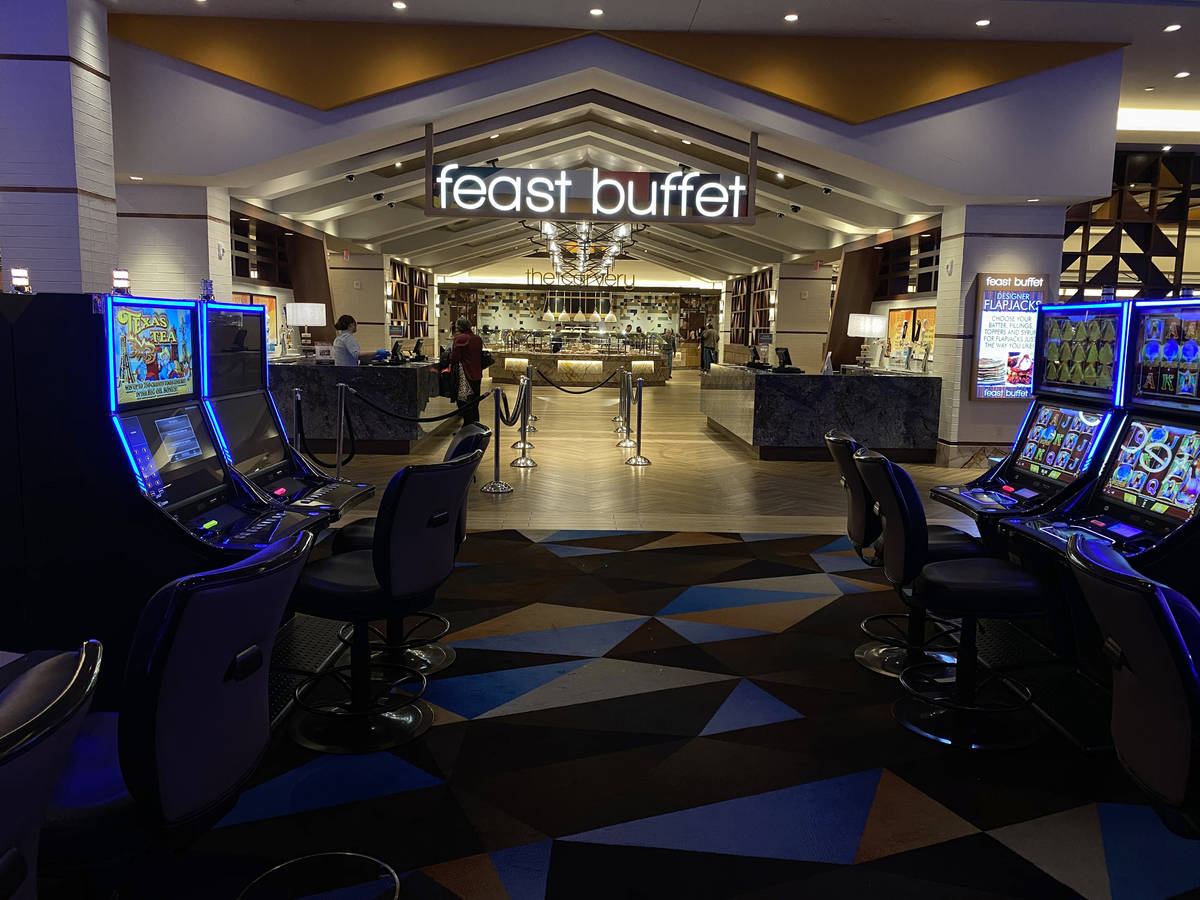 The Feast Buffet at Palace Station in Las Vegas Monday, March 16, 2020. (K.M. Cannon/Las Vegas ...