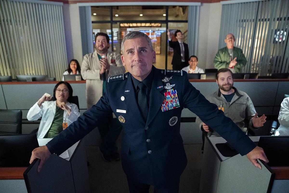 "Steve Carell stars in ""Space Force"" (Aaron Epstein/Netflix)"