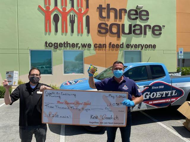 Goettl Air Conditioning and Plumbing held a donation drive to raise funds and collect food item ...