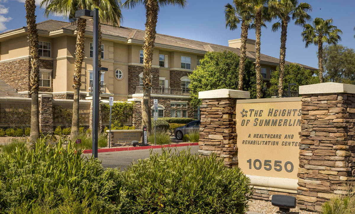 The Heights of Summerlin exterior, where there have been numerous deaths there due to COVID-19 ...
