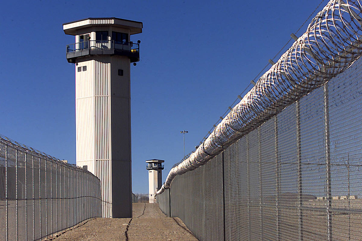 Guard towers at High Desert Prison near Indian Springs. (Las Vegas Review-Journal/File)