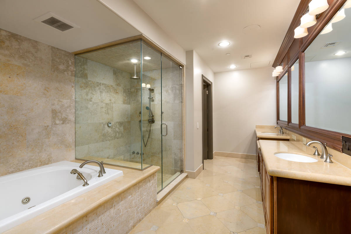 This double master condominium features a large master bath. (The Ivan Sher Group)