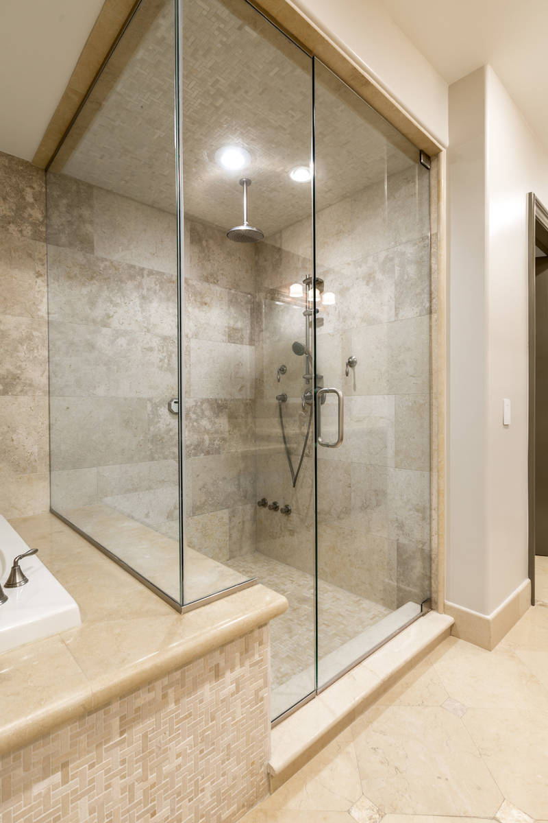 The large master shower. (The Ivan Sher Group)