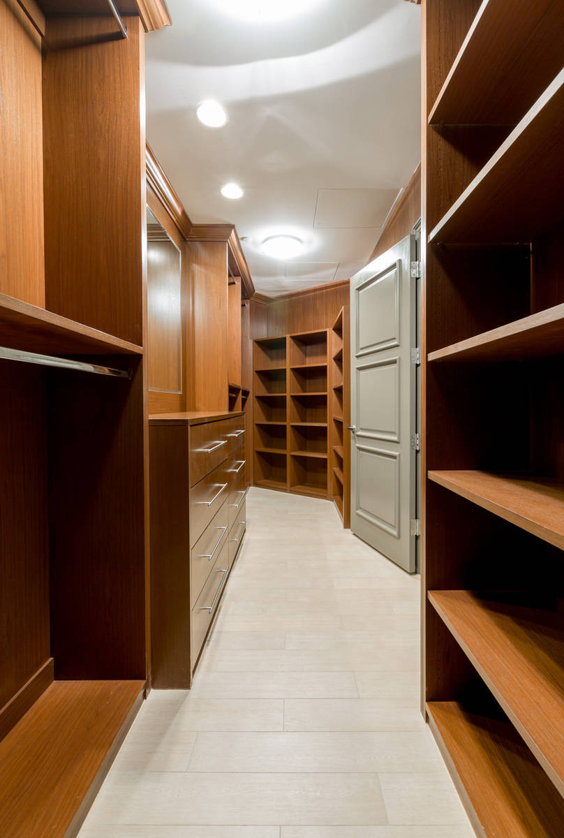 The master suite features a large closet. (The Ivan Sher Group)