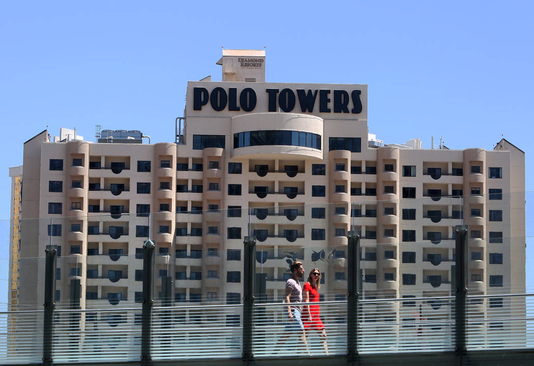 The exterior of Polo Towers at 3745 Las Vegas Blvd. South photographed on Wednesday, May 9, 201 ...