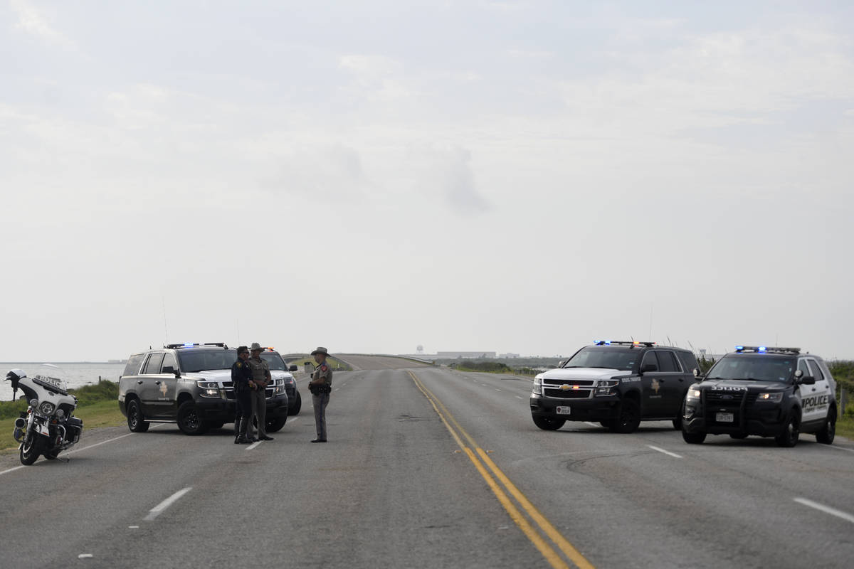 The entrances to the Naval Air Station-Corpus Christi are closed following an active shooter th ...