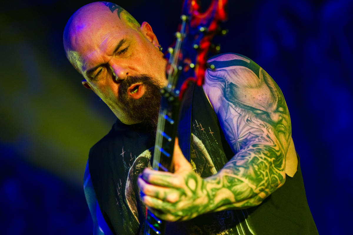Kerry King of Slayer performs at The Joint at the Hard Rock Hotel on March 26, 2016. He paid $3 ...