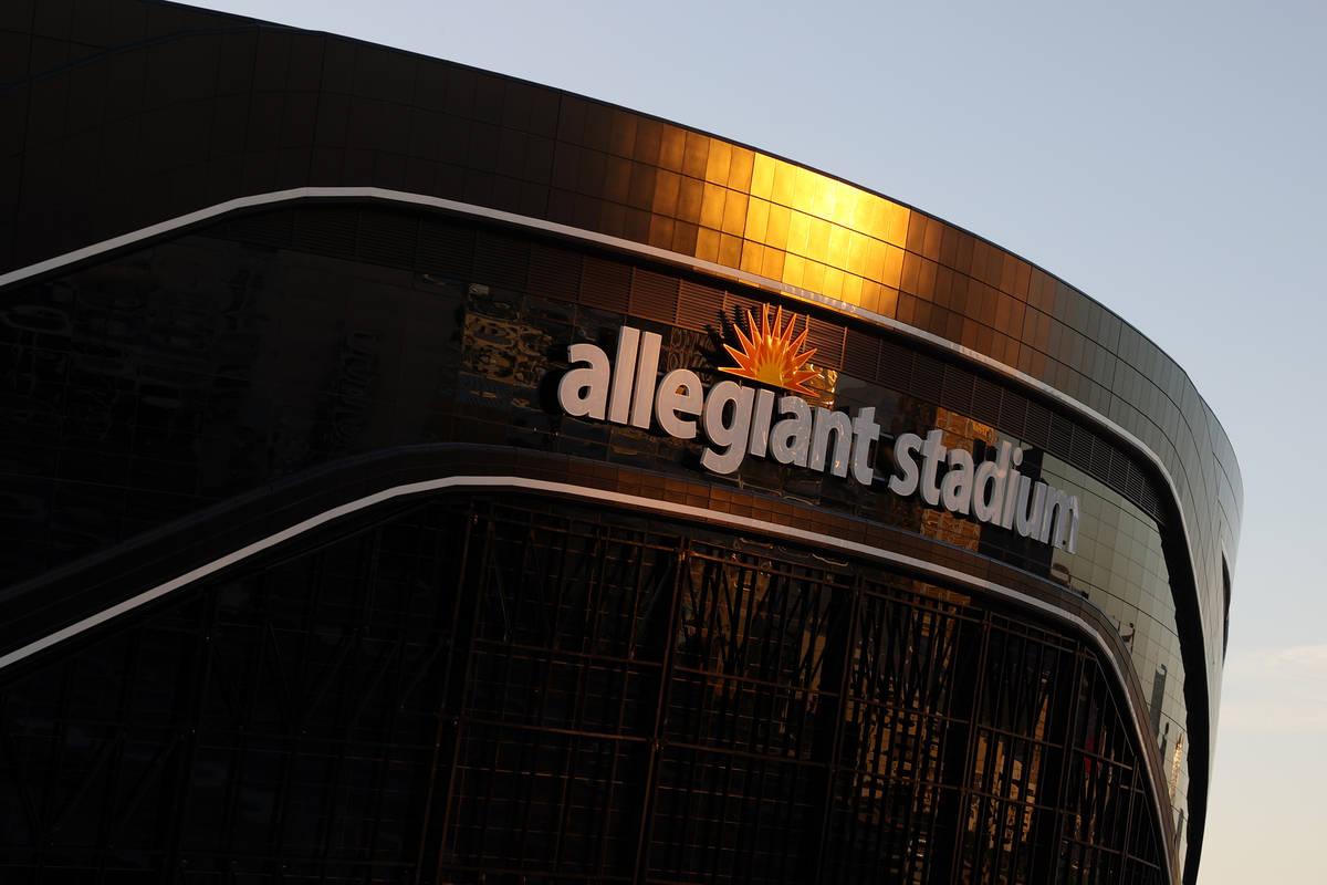 The Raiders Allegiant Stadium in Las Vegas, Friday, May 22, 2020. (Erik Verduzco / Las Vegas Re ...