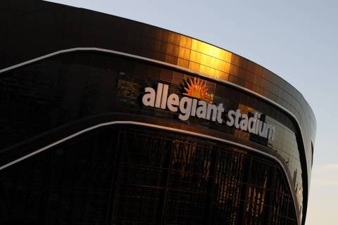 The Raiders Allegiant Stadium in Las Vegas, Friday, May 22, 2020. (Erik Verduzco / Las Vegas Re ...