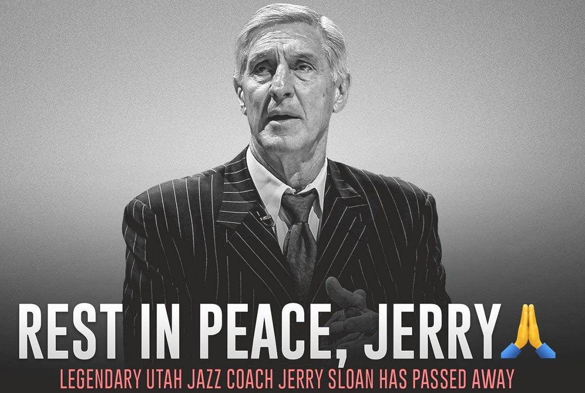 A photo of Jerry Sloan on the Jazz Nation Twitter page. (Twitter)
