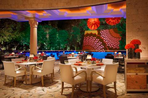 Lakeside overlooks Wynn Las Vegas' Lake of Dreams. (Wynn Las Vegas)