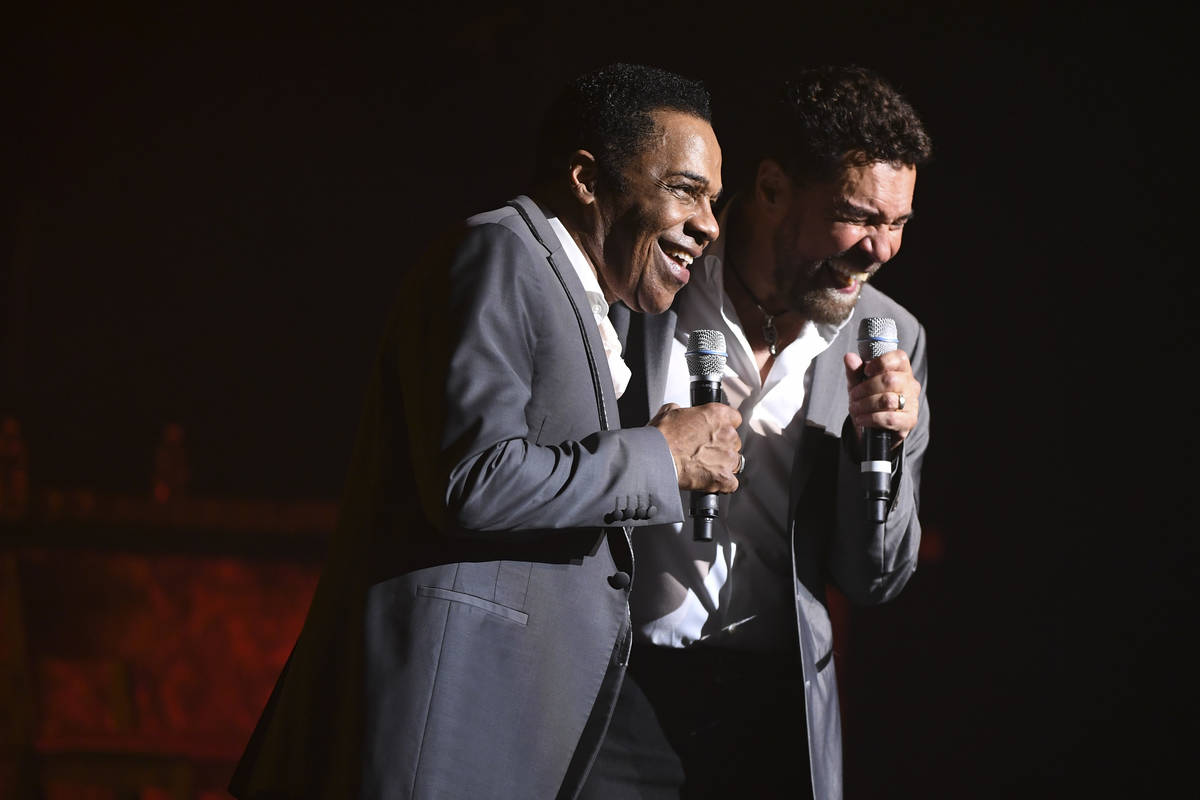"""Earl Turner and Clint Holmes perform their show """"Soundtrack"""" at the Westgate's Intern ..."""