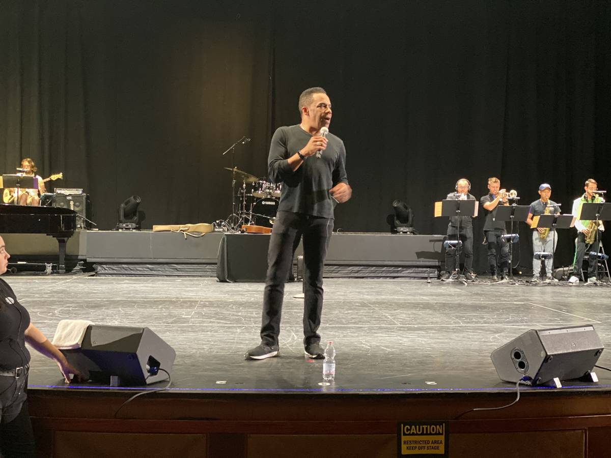 Earl Turner is shown during rehearsals on the cruise liner Oasis of the Seas on Nov. 23, 2019. ...