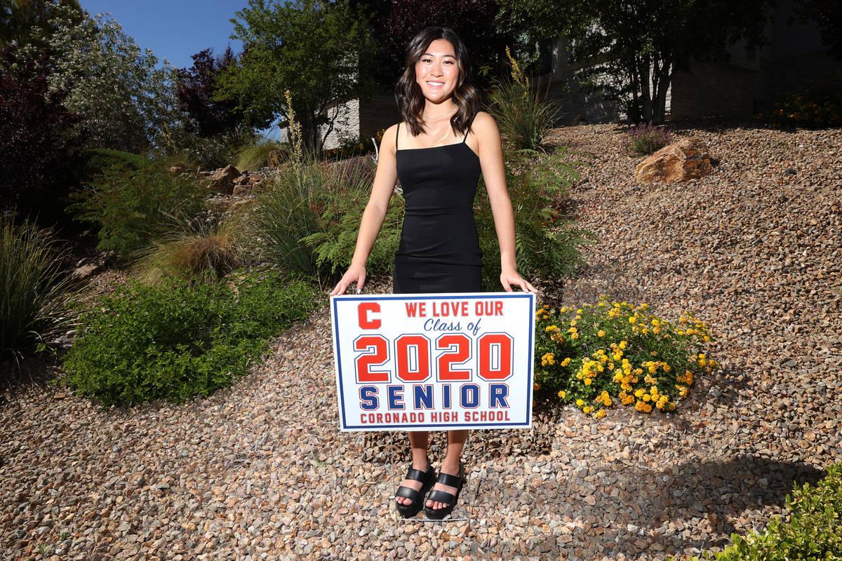 Megan King, 18, a senior at Coronado High School going to Princeton University, at her home in ...
