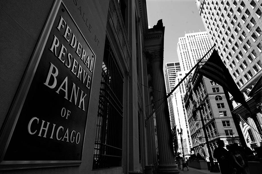 The Federal Reserve Bank of Chicago building is shown on Friday, April 24, 2009. (AP Photo/Paul ...