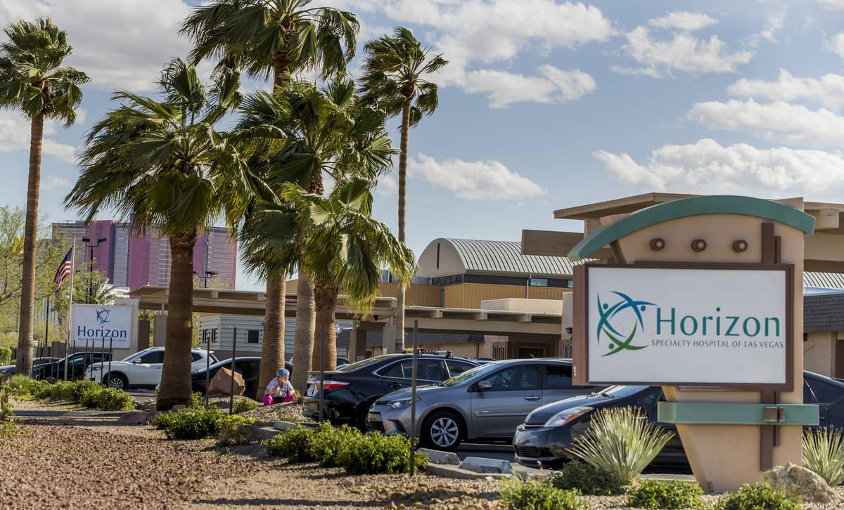 The Horizon Specialty Hospital, right, and the Horizon Health and Rehab which has 38 coronaviru ...