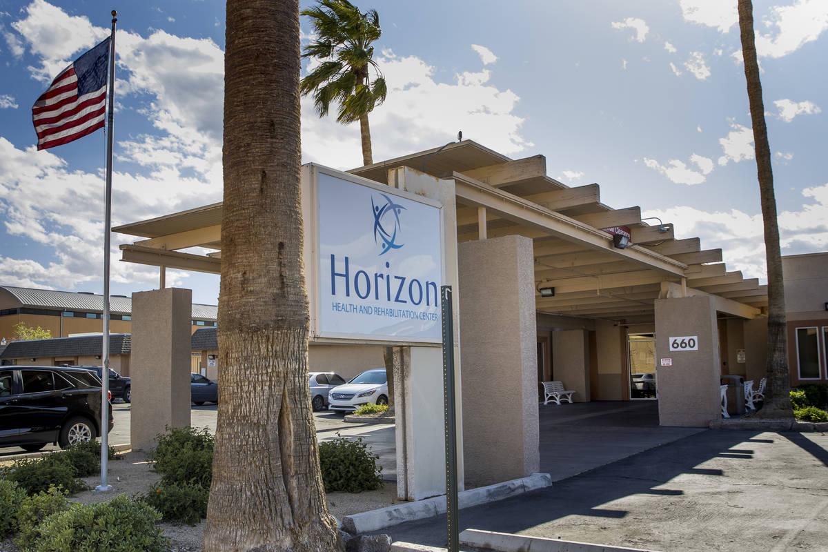 Exterior of the Horizon Health and Rehab which has 38 coronavirus cases involving 14 residents ...