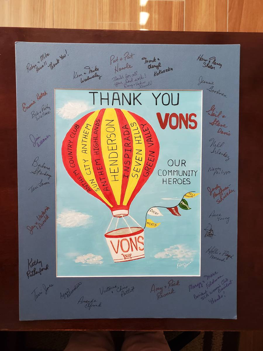 Robyn Howell designed a poster for the staff at Vons at 2511 Anthem Village, Henderson. (Robyn ...